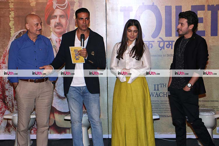 Team Toilet: Ek Prem Katha at the trailer launch event
