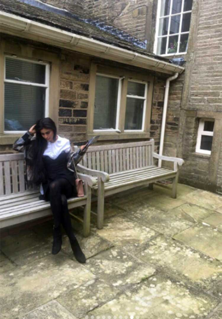 Mouni Roy in London for the shoot of her debut film Gold