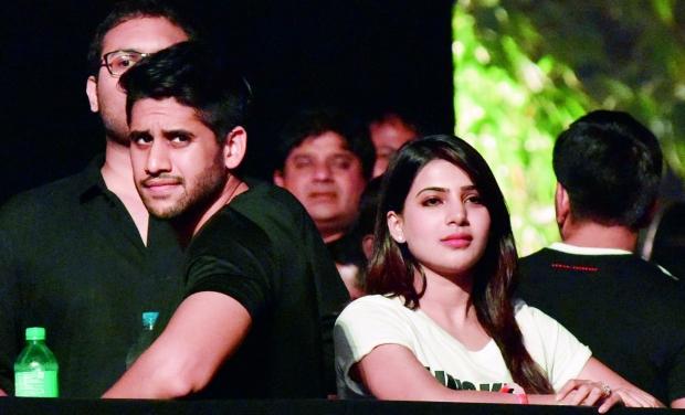 Samantha Prabhu and Naga Chaitanya at the screening of AAA, inuth.com