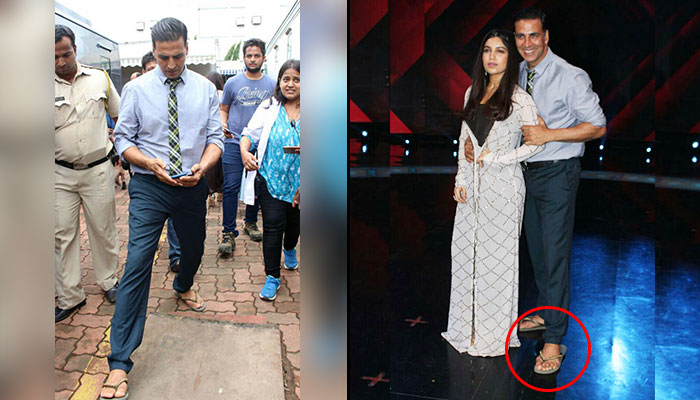 47bacdf3e04 Akshay Kumar wears  chappals  with formals and we just can t wait to  welcome this happening trend