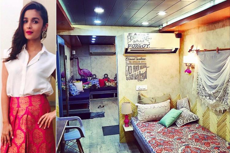 Alia Bhatt's vanity van
