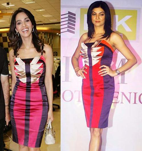Mallika Sherawat ad Sushmita Sen in Kiran Millan outfit