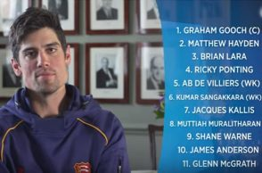 ALastair Cook, All time XI, Sachin Tendulkar
