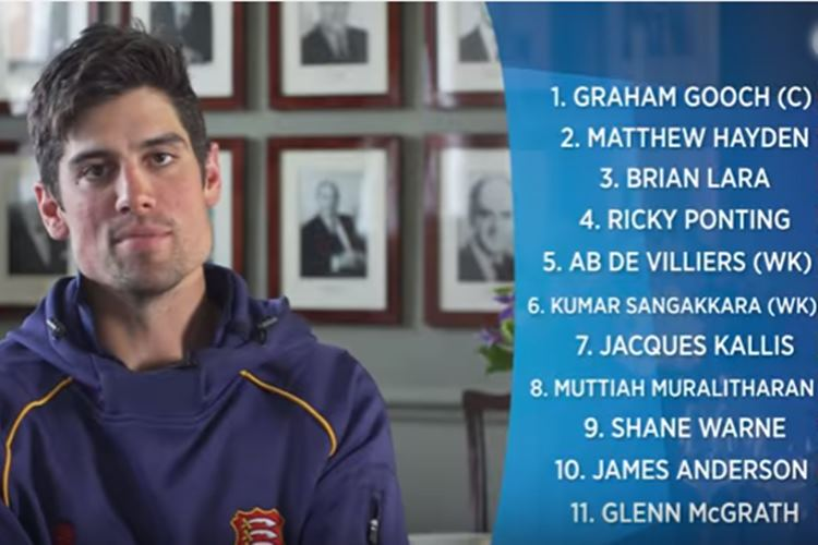 Alastair Cook ignores Sachin Tendulkar in his All Time XI, no India, Pakistan player either | Watch Video