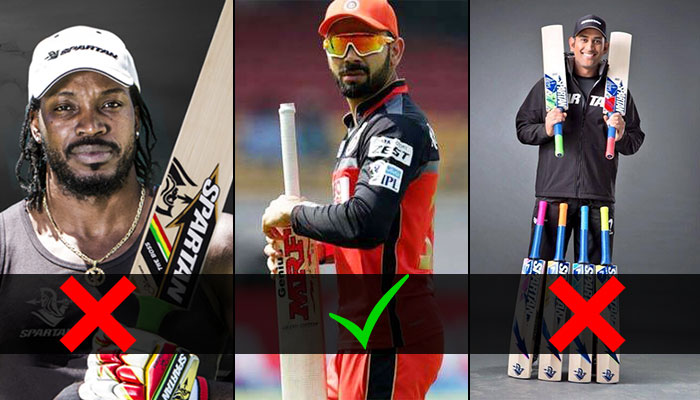 ICC to force MS Dhoni, Chris Gayle but not Virat Kohli to change his bat post September matches, here's why!