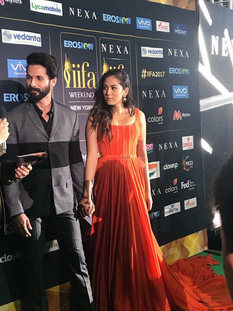 Shahid Kapoor and Mira Rajput at IIFA 2017 green carpet, inuth.com
