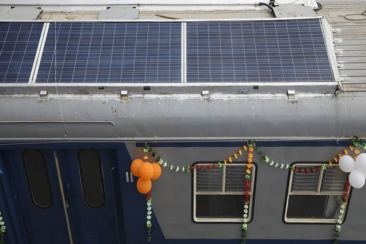 India's first solar-powered DEMU train launched