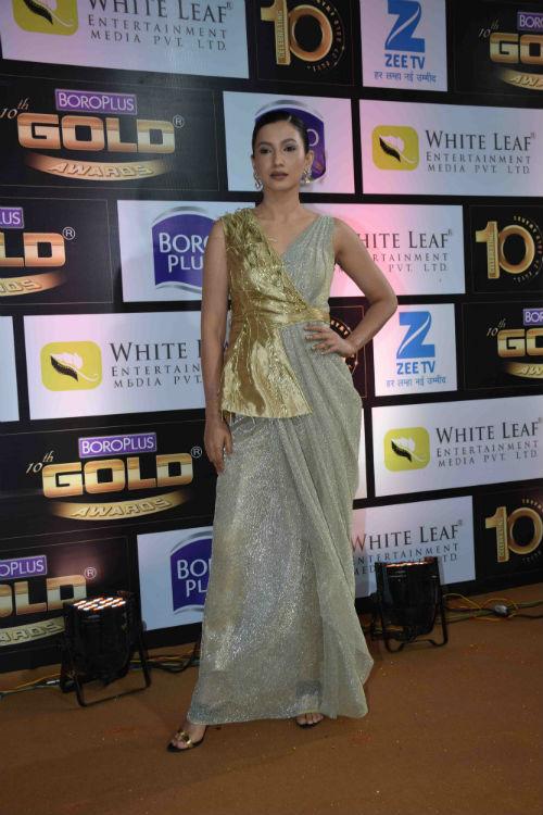 Gauhar Khan at Zee Gold Awards