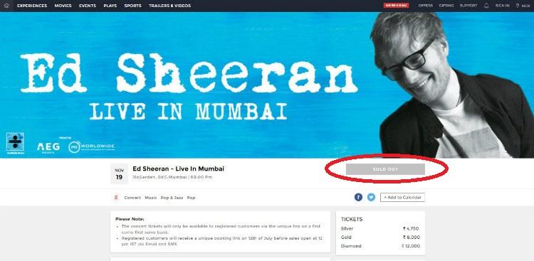 Ed Sheeran, Mumbai Concert