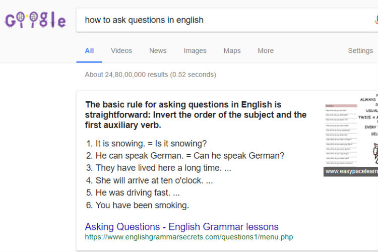 how to ask questions in google