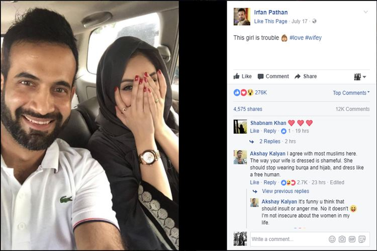 Irfan Pathan wife, Irfan Pathan facebook, Irfan Pathan wife trolled, shamed