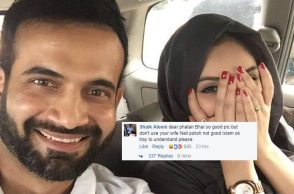 Irfan Pathan wife, nail paint, UnIslamic, Irfan Pathan Facebook