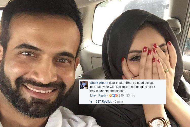 Irfan Pathan's wife shamed for wearing nail polish and 'showing her hands'? Go home internet, you're drunk
