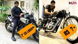 10 most expensive Indian celebrity bikes. The cheapest in the list costs Rs 25 lakh