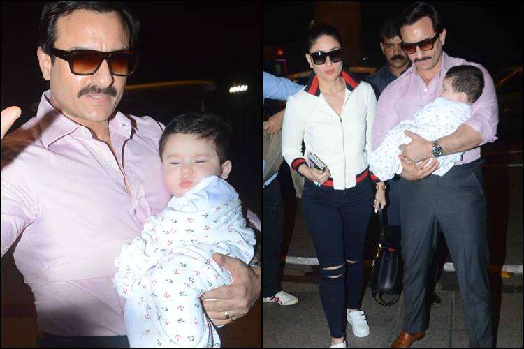 Kareena Kapoor, Saif Ali Khan and Taimur