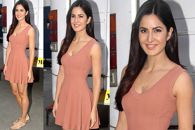 Katrina Kaif in v-neck Alaia dress.
