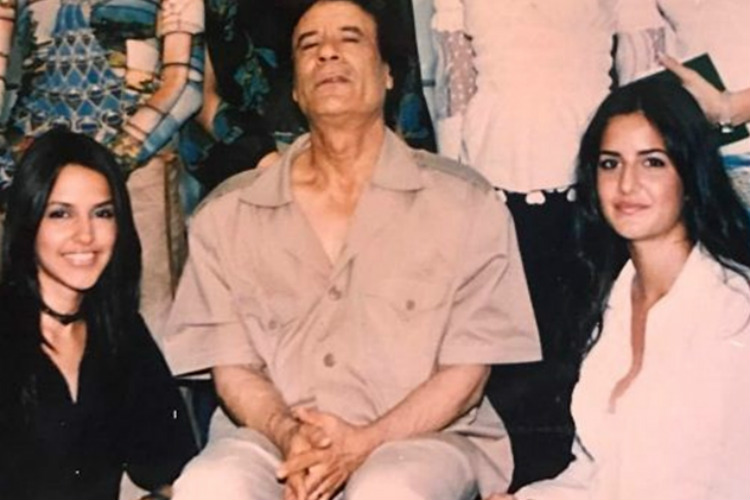 Old photo where Katrina is seen posing with Muammar Gaddafi goes viral