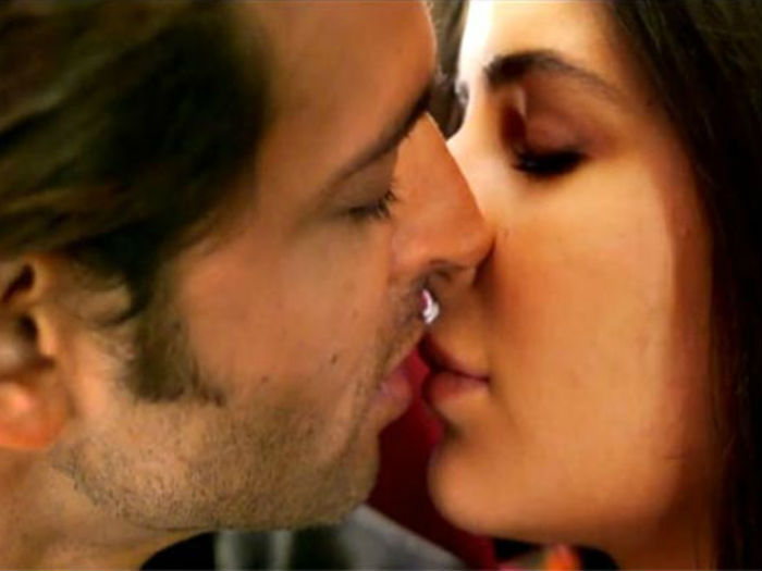lingering kiss Bollywood