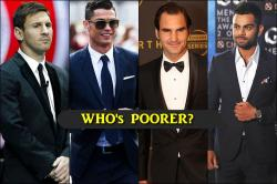 Virat Kohli earns PEANUTS compared to Lionel Messi, Cristiano Ronaldo and Roger Federer, here's proof!
