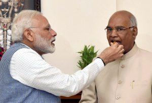 Narendra Modi with Ram Nath Kovind