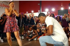 proposal video, Phil Wright, Choreographer proposes girlfriend, Instagram, viral video