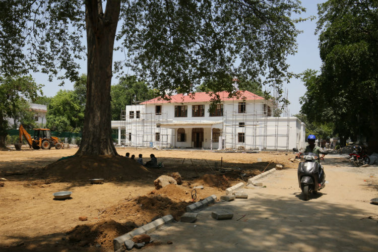 The new official residence the Rajaji Marg bungalow