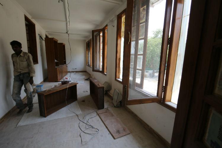Renovation work at 10, Rajaji Marg house