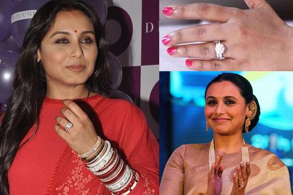 Rani Mukherji engagement ring