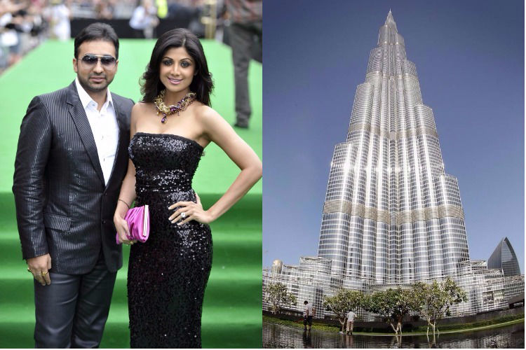 Shilpa Shetty burj khalifa apartment