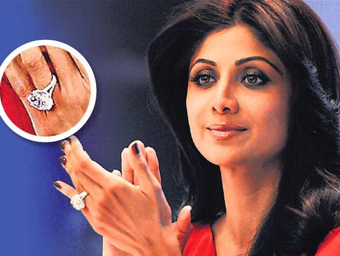 Shilpa Shetty Engagement Ring