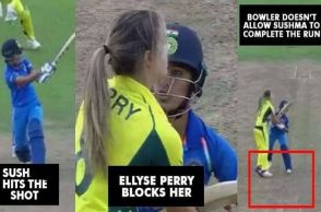 Sushma Verma, Ellyse Perry, India vs Australia, fights on cricket field