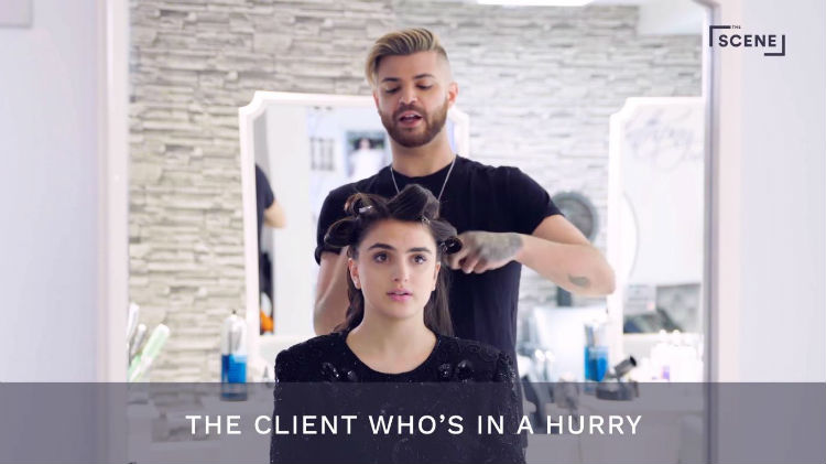 Types of Clients, Hair Salon, The Scene