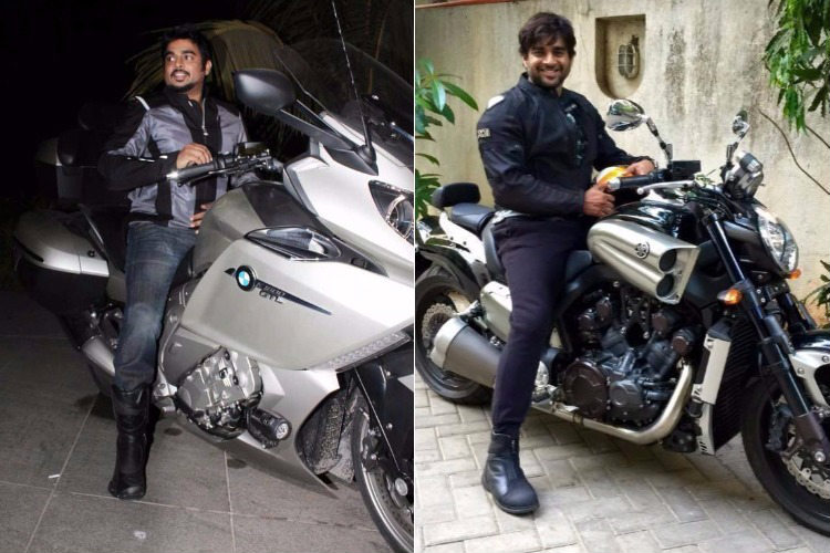 R Madhavan on his bike