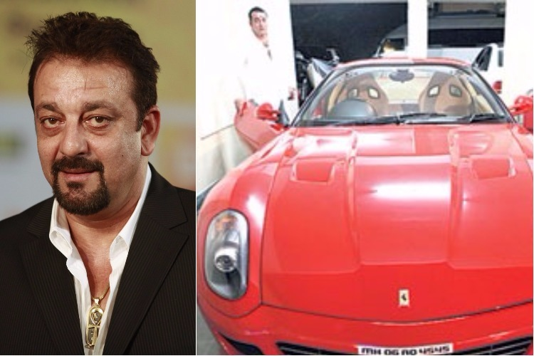 Sanjay Dutt with his Ferrari