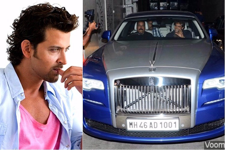 Hrithik Roshan in his Rolls Royce