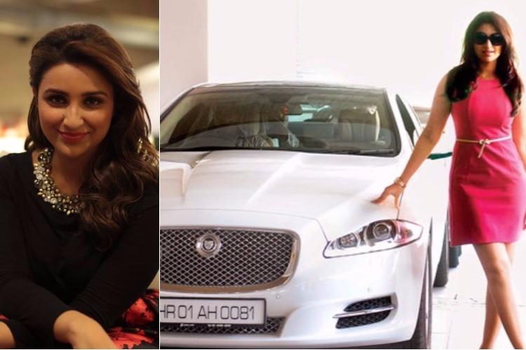 Parineeti Chopra and her Jaguar XJL