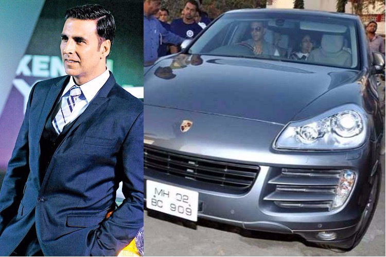 Akshay Kumar driving around in his Porche Cayenne