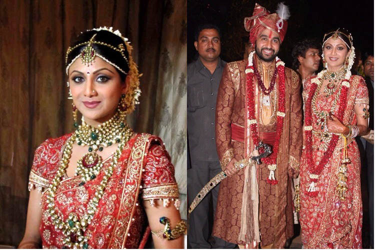 Shilpa Kundra and Raj Kundra at their wedding