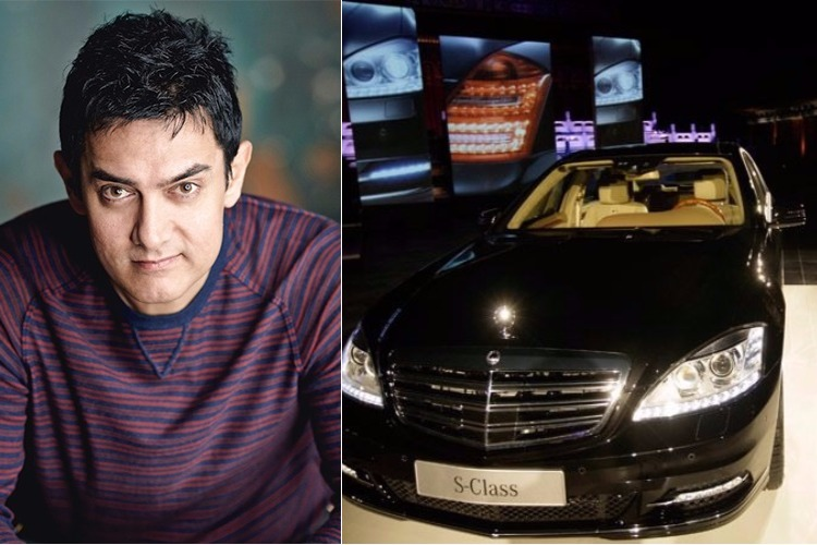 Aamir Khan and his Mercedes S600 Luxury Sedan
