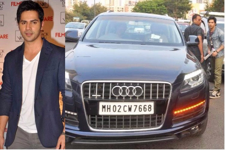 Varun Dhwan with his Audi
