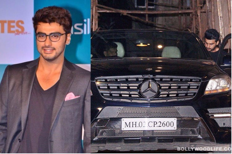 Arjun Kapoor with his Mercedes