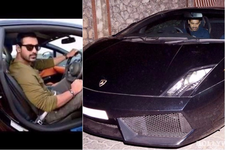 John Abraham and his Lamborghini