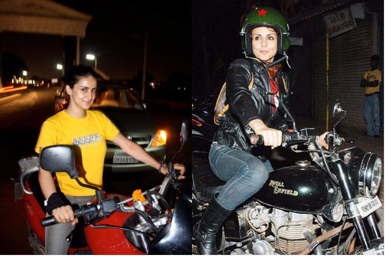 Gul Panag loves to ride bikes