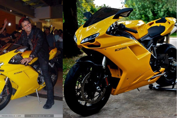 Vivek Oberoi and his Ducati 1098