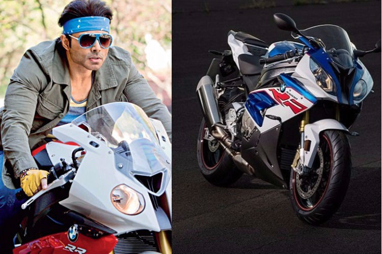 Uday Chopra on his bike