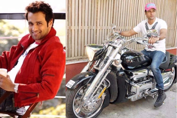 Rohit Roy with his bike