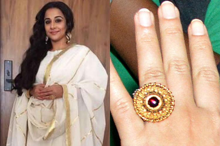 Vidya Balan engagement ring