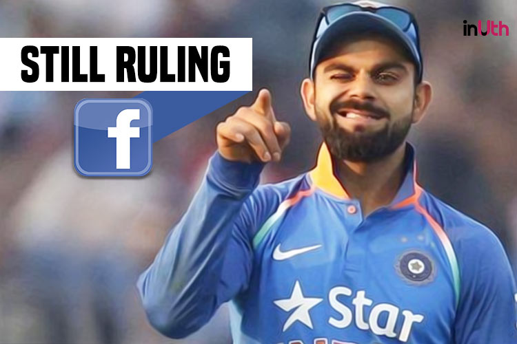 Virat Kohli continues to dominate as No 1 on Facebook over Sachin Tendulkar and MS Dhoni inJune