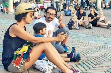 Aamir Khan Rome vacation photo