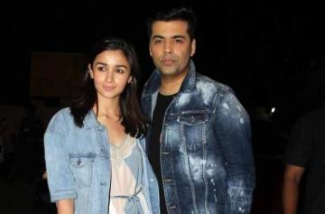 Alia Bhatt, Karan Johar's denim fashion face off photo